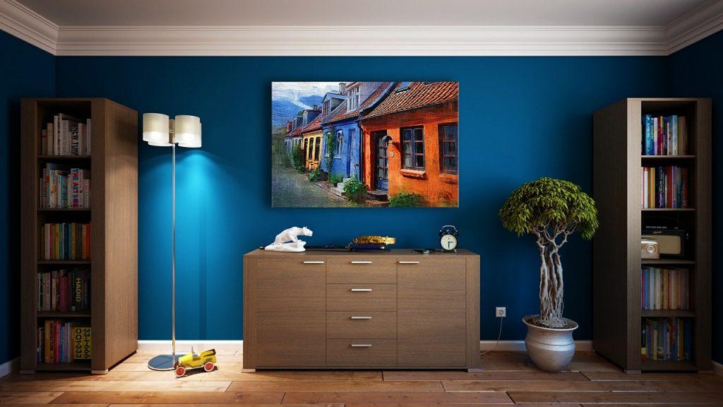 картина у дома